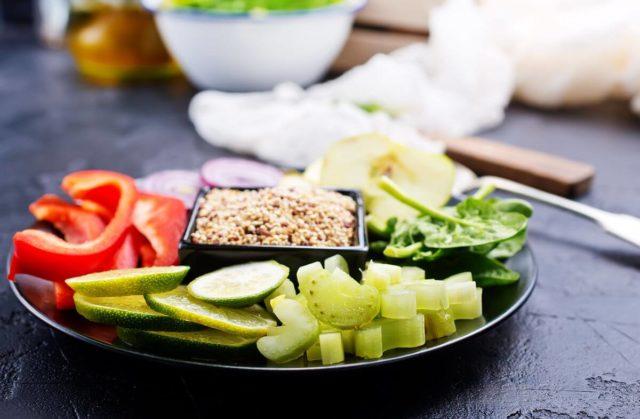 Овощи при гречневой диете