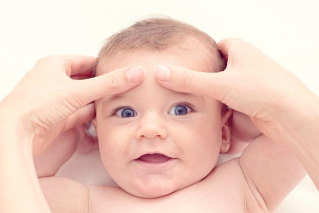 Точечный массаж ребенку для успокоения